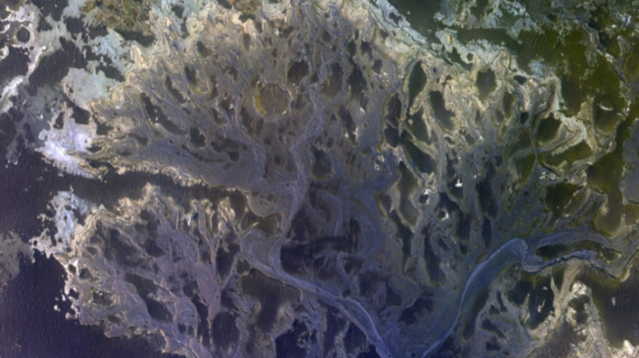 New MARS IMAGE shows river delta that once carried WATER