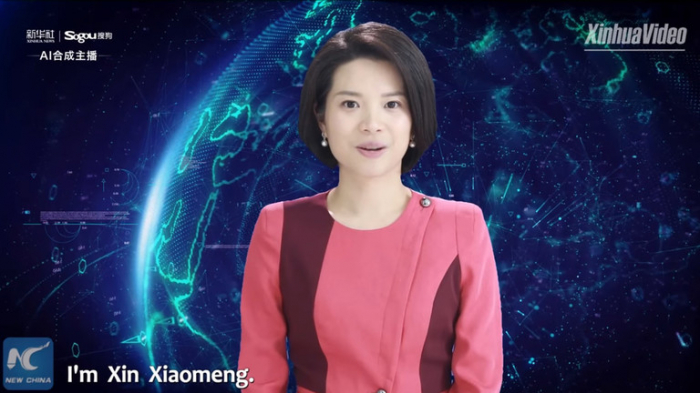 Chinese news station unveils world's first female AI news anchor