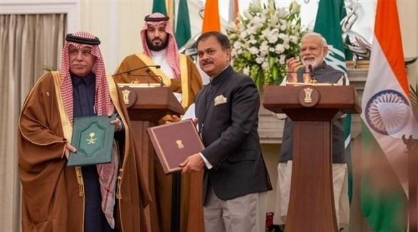 توقيع 5 اتفاقيات بحضور محمد بن سلمان ورئيس الوزراء الهندي