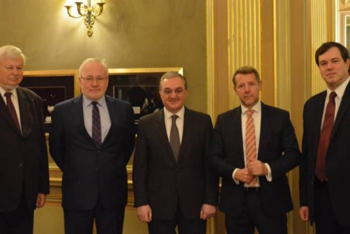 Les coprésidents du GdM rencontrent le ministre arménien des Affaires étrangères