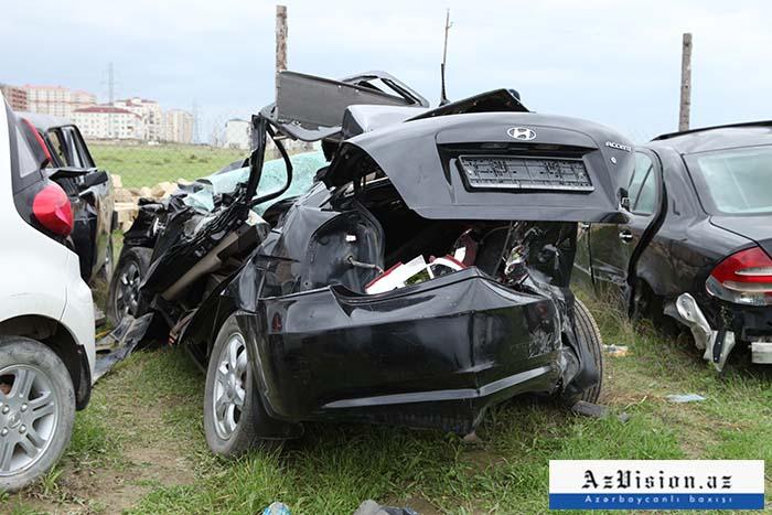 Qusarda iki maşın toqquşub, sürücü ölüb