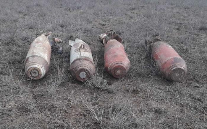 Ağstafada 4 ədəd aviabomba aşkar edilib