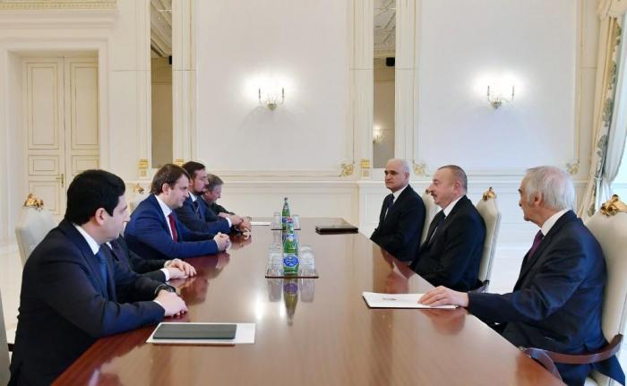 President Aliyev receives Russian minister of economic development -   URGENT