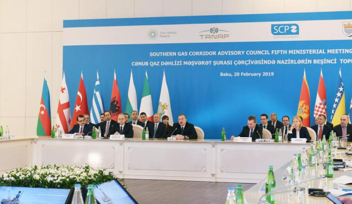 Ilham Aliyev attends 5th ministerial meeting within SGC Advisory Council in Baku - PHOTOS