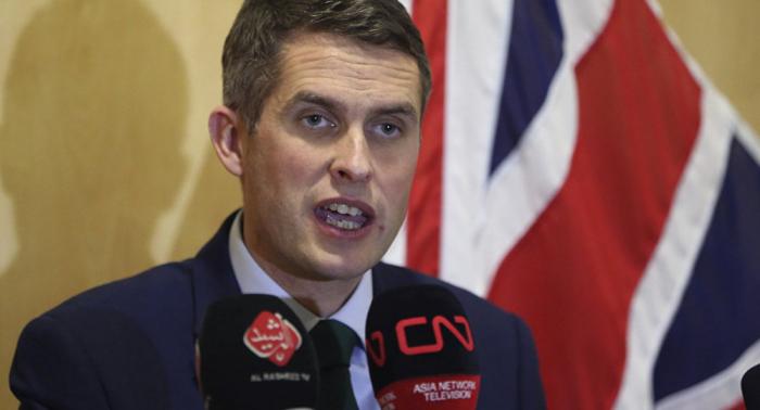 El ministro británico de Defensa relanza ofensiva contra Rusia y China