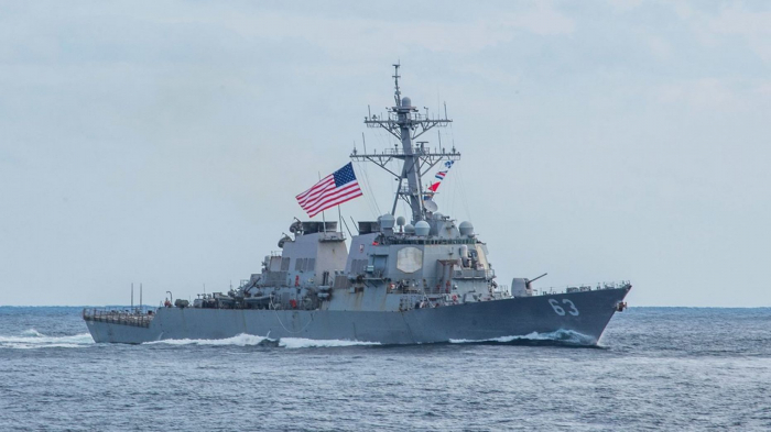 US Navy dispatches destroyer, cargo ship through Taiwan Strait in message to China