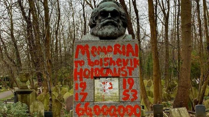 Attacke auf das Grab von Karl Marx