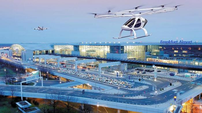 Frankfurter Flughafen setzt auf Flugtaxis