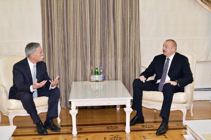 President Ilham Aliyev receives Formula 1 Group CEO