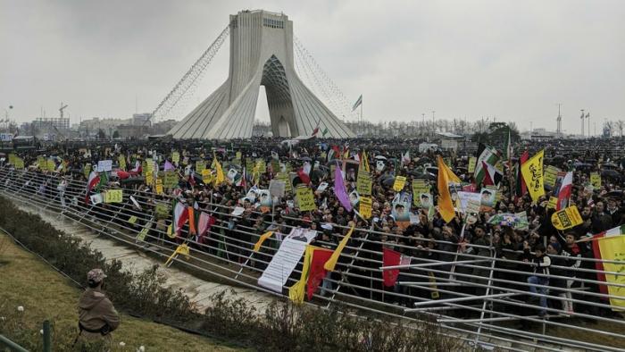 VIDEOS, FOTOS:  El centro de Teherán se llena para conmemorar el 40.º aniversario de la Revolución Islámica
