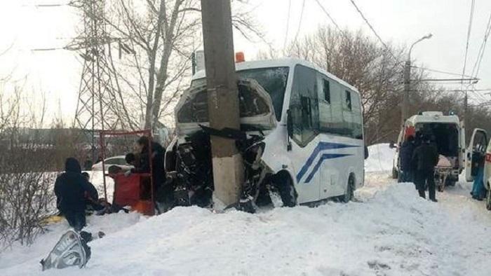 Rusiyada avtobus qəzası: 19 nəfər yaralandı
