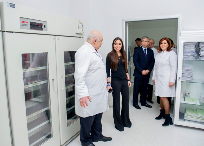 Vice-President of Heydar Aliyev Foundation Leyla Aliyeva visits Scientific Research Institute of Hematology and Transfusion