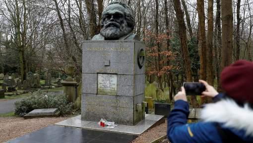 La tombe de Karl Marx de nouveau vandalisée à Londres