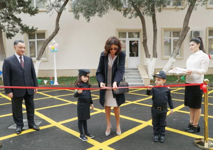 First VP Mehriban Aliyeva attends opening of kindergarten in Baku