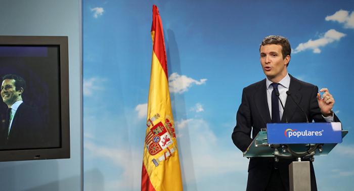 Pablo Casado presenta la intervención en Cataluña como propuesta de cara a las elecciones