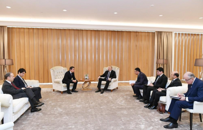 President Aliyev meets Italian deputy minister for economic development -