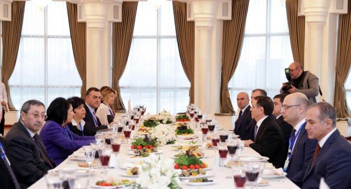 Azerbaijani Prime Minister, Georgian President have joint working dinner