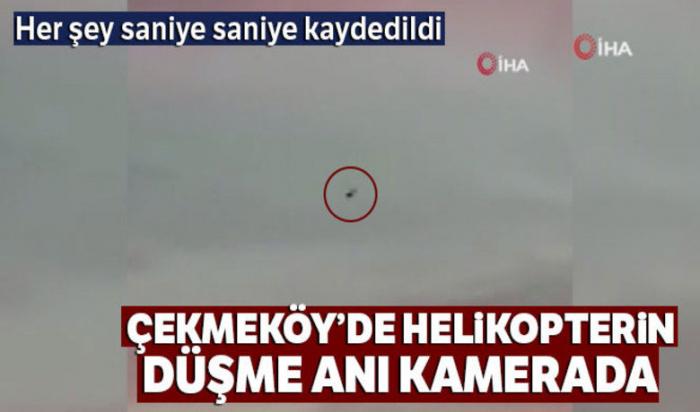 İstanbulda 4 əsgərin öldüyü helikopterin qəza anı - VİDEO