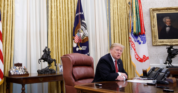 Trump, in interview, calls wall talks 'Waste of Time' and dismisses investigations