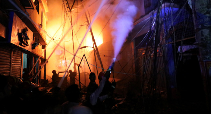 بالصور... مصرع أكثر من 56 شخصا جراء حريق في بنغلاديش