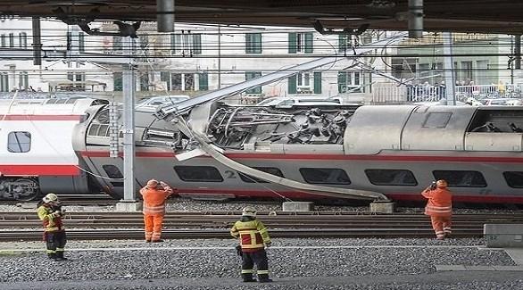 قطار ألماني فائق السرعة يخرج عن القضبان في بازل السويسرية