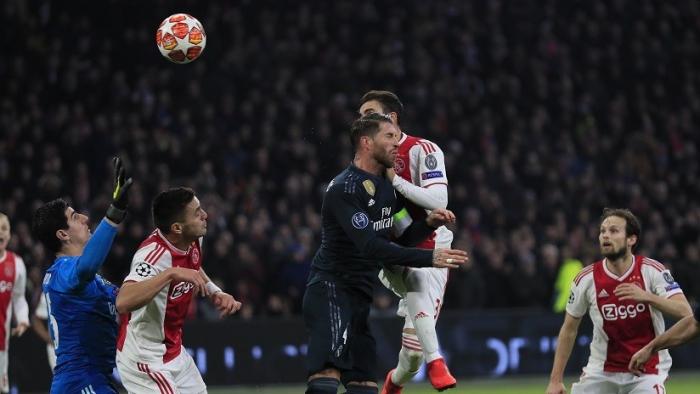 La UEFA explica el gol anulado del Ajax frente al Real Madrid en un partido de la Liga de Campeones