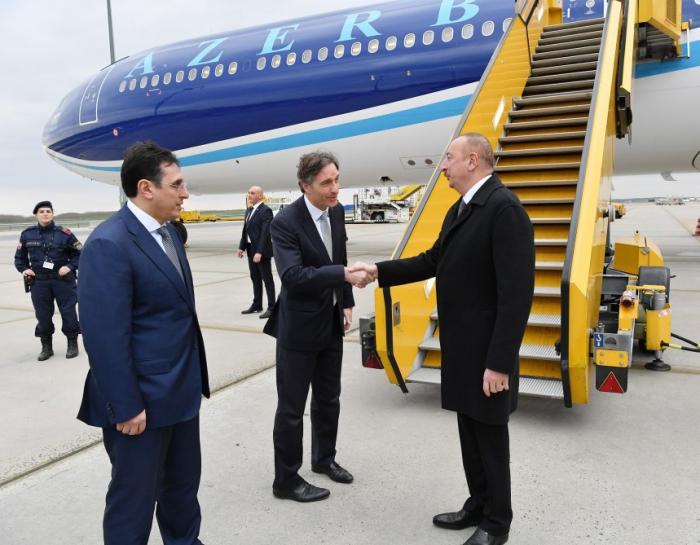 President Ilham Aliyev arrives in Austria for working visit