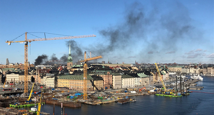 Huge explosion reported in Stockholm -  PHOTOS