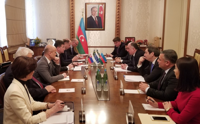 Azerbaijani FM meets withOSCE Chairperson-in-Office