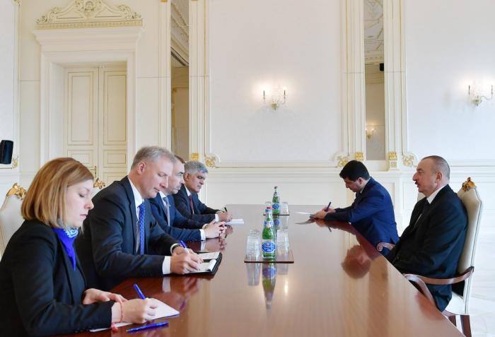 President Ilham Aliyev receives EU delegation -  UPDATED