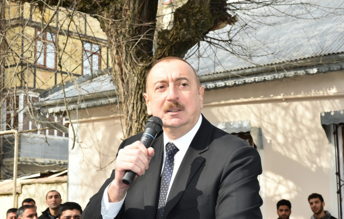 """""""Çalışıram hər şey edim ki, vətəndaşlar daha yaxşı yaşasınlar"""" - İlham Əliyev (FOTOLAR)"""