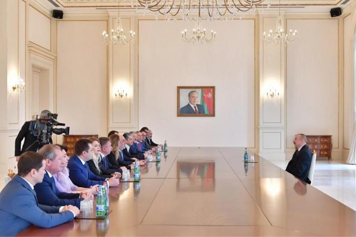 President Ilham Aliyev receives delegation of Russian Jewish Congress