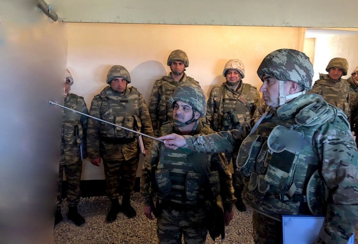 Azerbaijani troops conduct terrain reconnaissance during large-scale drills