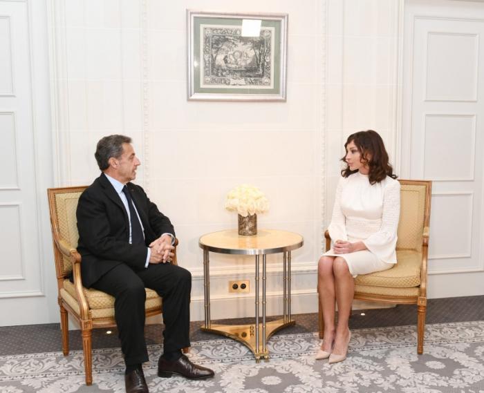 Birinci vitse-prezident Sarkozi ilə görüşüb - FOTO