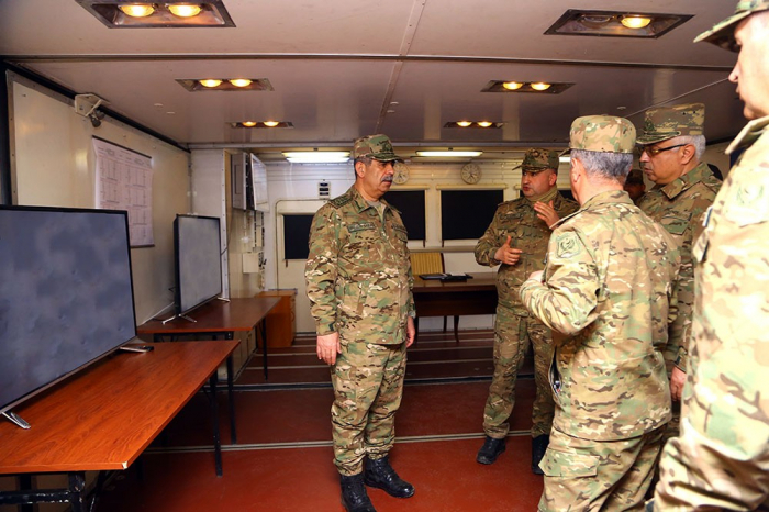 Azerbaijan's Defense Minister visits exercise command post established on territory