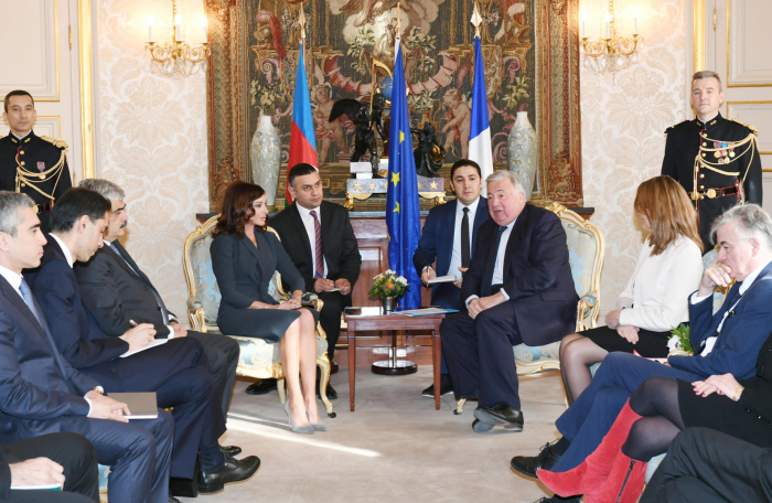 Mehriban Aliyeva meets with French first lady and President of French Senate