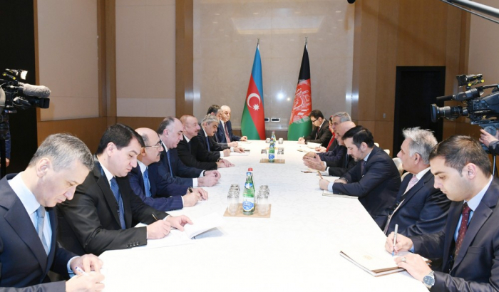 Treffen zwischen Präsident Ilham Aliyev und dem afghanischen Präsidenten Ashraf Ghani