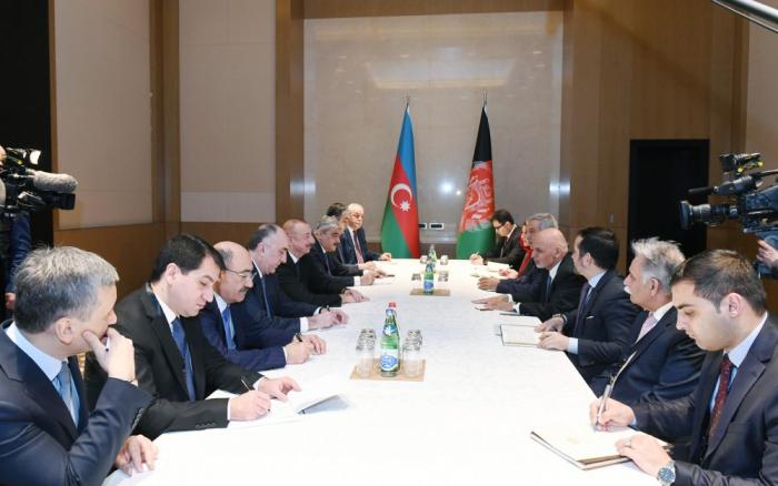Prezident əfqanıstanlı həmkarı ilə görüşüb - FOTOLAR (Yenilənib)