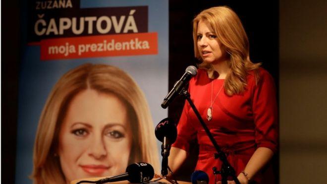 Anti-corruption candidate Zuzana Caputova leads Slovak poll