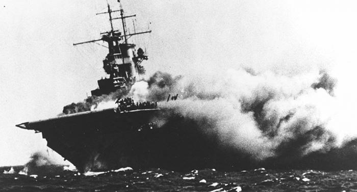 1942 torpedierter US-Flugzeugträger im Korallenmeer gefunden –   VIDEO