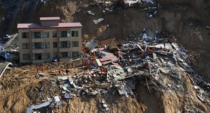 Se eleva la cifra de muertos por deslave en la provincia china de Shanxi