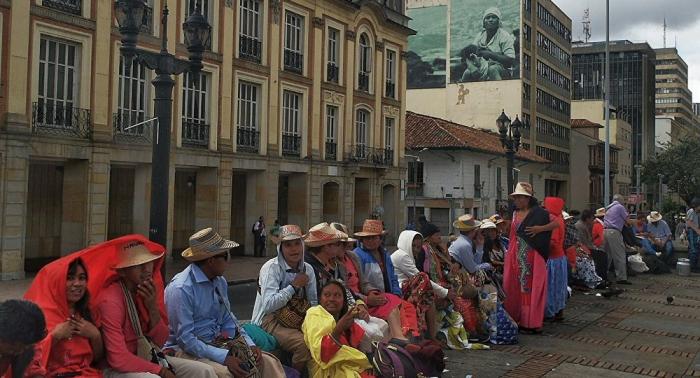 Con marchas, manifestantes protestan contra objeciones a tribunal de paz en Colombia