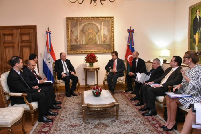 Elmar Mammadyarovest en visite officielle au Paraguay