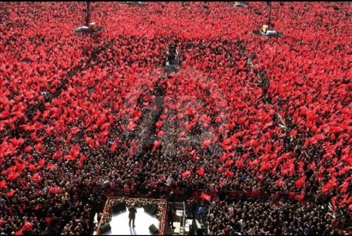 """""""Cümhur ittifaqı""""nın mitinqinə 1 milyondan çox insan qatılıb"""