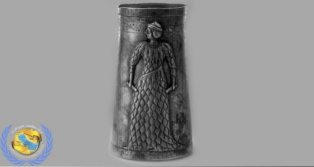 3,000-year-old silver goblet unearthed in northwestern Iran