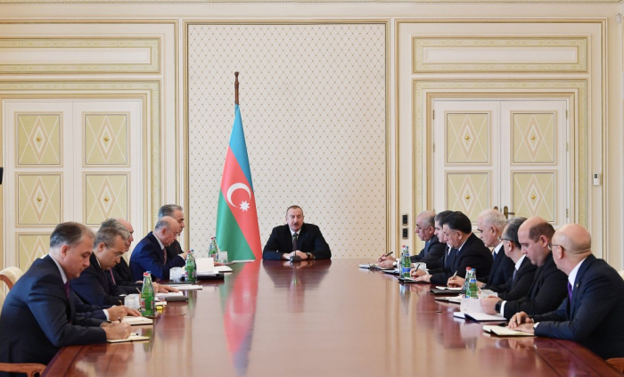 President Aliyev chairs meeting over fire in Baku mall