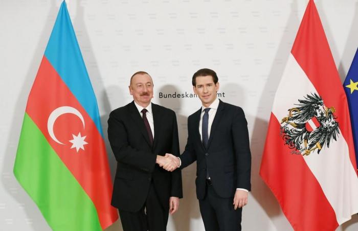 President Ilham Aliyev meets with Austrian Federal Chancellor Sebastian Kurz in Vienna