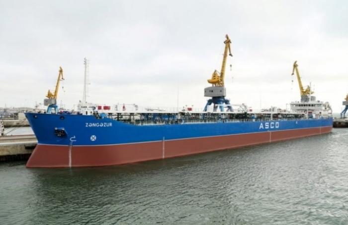 """""""Zəngəzur"""" tankeri əsaslı təmir olunub"""