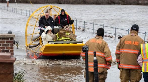 فيضانات تاريخية تضرب ولاية نبراسكا الأمريكية