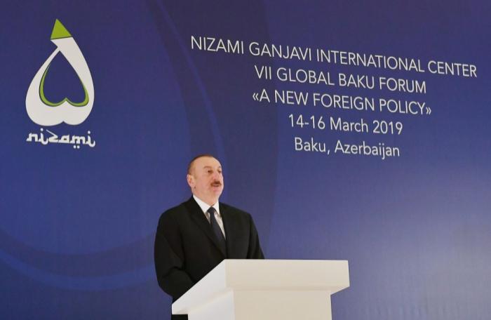 """الرئيس إلهام علييف:  """"تحاول الحكومة الأرمينية تغيير شكل المفاوضات"""""""